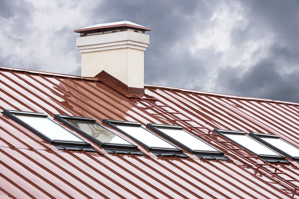 red metal standing seam roof